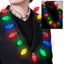 season led light up bulb necklace