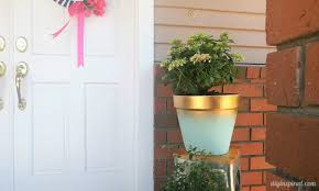 Curb Appeal Diy - diy painted terra cotta pot to add curb appeal diy inspired