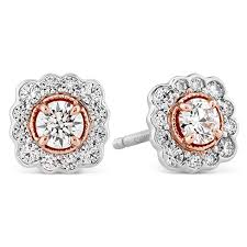 diamond stud earrings melbourne hearts on liliana flower diamond stud earrings trewarne
