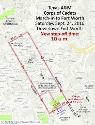 Fort Worth Map Corps Trip U2013 Texas A U0026m Corps Of Cadets