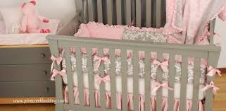 pink crib bedding pine creek bedding