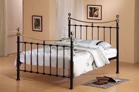 bedroom furniture cast iron king bed metal bed frame double iron