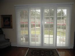 sliding glass doors with blinds between wainscoting kids shabby