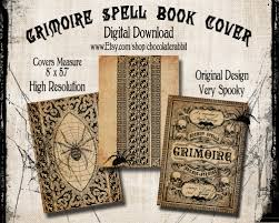 antique halloween background spell book cover halloween witch digital download printable