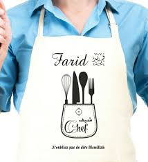 tablier de cuisine professionnel personnalisé tablier de cuisinier pas cher tablier de cuisine brod offrir en