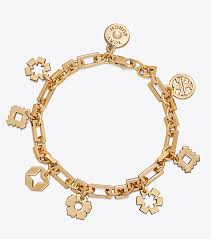 gold charm bracelet chains images Tory burch geo charm bracelet women 39 s view all jewelry tory burch
