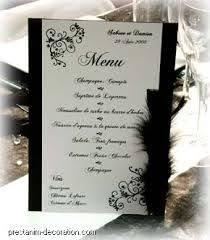 mariage baroque menu mariage baroque photophore dentelle boucle strass eventail
