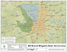 Map Of Denton County Mill Branch Stream Mitigation Bank Riverbank
