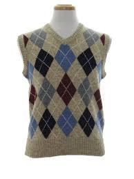 retro 80 u0027s sweater 80s claybrooke mens heathered tan with sky