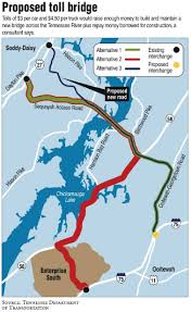 Tennessee River Map Without A Toll Tennessee River Bridge In Doubt Times Free Press