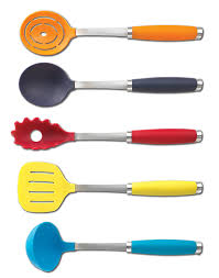amazon com fiesta 6 piece utensil set with crock kitchen u0026 dining