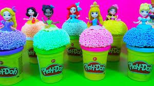 disney princess little kingdom play foam play doh toys surprise