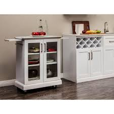 Microwave Cart Home Depot Newage Products White Bar Cart 60011 The Home Depot