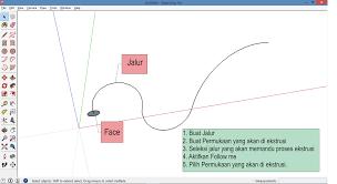 inilah cara menggunakan tool sketchup follow me belajar sketchup