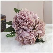 Wedding Garden Decor Artificial Fake Peony Silk Flower Bridal Hydrangea Home Wedding