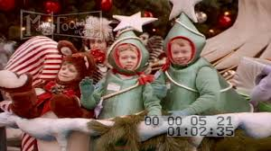 1991 macy s thanksgiving day parade santa claus reindeers stock