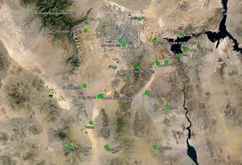 Fallout Old World Blues Map new vegas locations compared to their real life locations novac