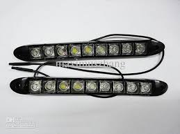 led daylight strip light flexible 9 led light strip auto drl lens led waterproof universal