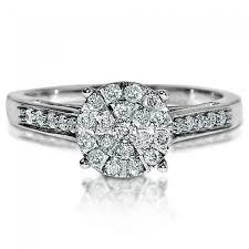8mm diamond ring diamond 0 33ct w white gold 8mm big top illusion set pave size 7