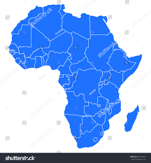 Detailed Map Of Africa by Map Africa Stock Vector 225379642 Shutterstock