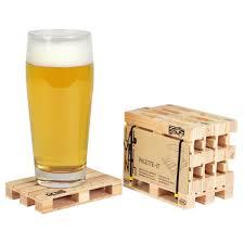 wooden drink coaster amazon com palette it set of 5 design pallet coasters coasters