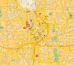 Atlanta Area Map Stadtplan City Zentrum Atlanta Ga Georgia Usa Karte Und