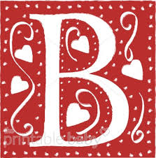 block letter b baby alphabets