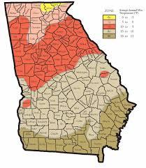 Atlanta Area Map Hardiness Zones For Georgia Walter Reeves The Georgia Gardener