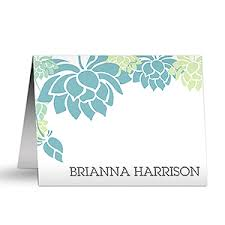 personalized notecards personalized note cards floral message