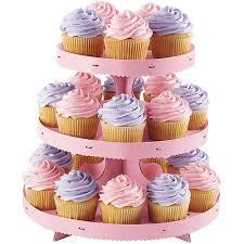 3 tier cupcake stand wilton 3 tier corrugated cupcake stand pink 1512 0884 walmart