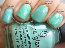 spring aqua nail polish comparisons china glaze and nails inc