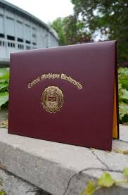graduation diploma covers c m u maroon and gold diploma cover top open the cmu bookstore