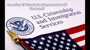 1 what is the supreme law of the land civics lessons question 1