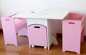 kids table and chairs with storage childrens kids pink table and chairs set w toy box storage