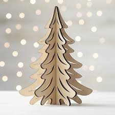 laser cut wood tree crate and barrel