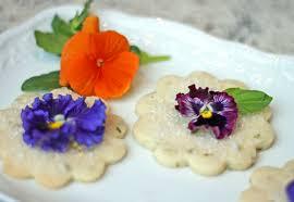 edible flower garnish basil cookies with edible flower garnish