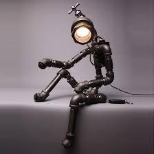cyborg r2b desk lamp upcycle pipe art of 602lab handmade fixtures