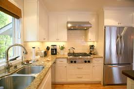 kitchen style white flat shaker kitchen cabinets and taupe