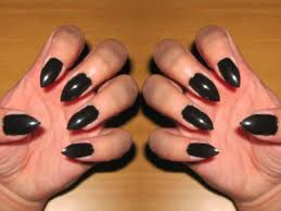 claws halloween diy stiletto nails no acrylic youtube