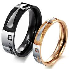 his and rings athena jewelry titanium series his hers matching set