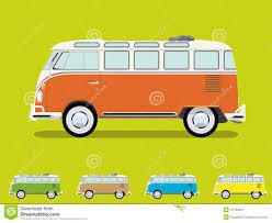 van volkswagen hippie vintage samba camper van vector illustration stock vector image