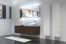Backlit Mirrors Bathroom Modern Bathroom Mirrors Backlight Mirror With 2 Vertical Lights