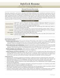 Sample Systems Engineer Resume by It Resume Samples Infotechresume