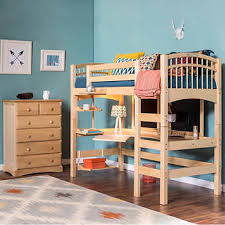 Loft Bed With Desk On Top Bunk Beds Costco