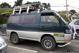 mitsubishi fuso camper drew u0027s veggie powered 4 4 mitsubishi delica van the shelter blog