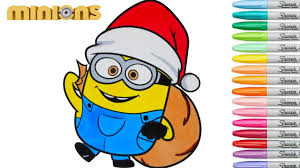 minions coloring book christmas episode rainbow splash youtube