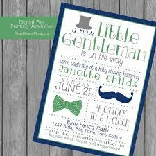 little gentleman baby boy shower invitations top hat bow tie