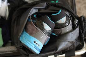 Wyoming travel shoe bags images Tricks to getting suitcases packed and workouts done while jpg