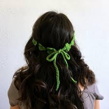 shamrock flower crown free crochet pattern