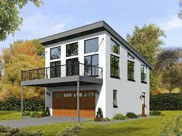 Pole Barn With Apartment 062g 0081 2 Car Garage Apartment Plan With Modern Style Garage